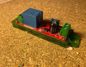 NE555 DC 12V Digital Delay Timer Relay 3D print model 1