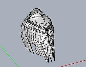 3D printable model Concept helmet