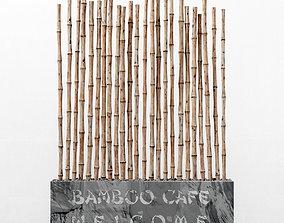 Bamboo decor fundament 3D model