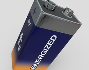 Battery 9V 3D model