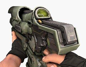 Burst Gun 3D asset