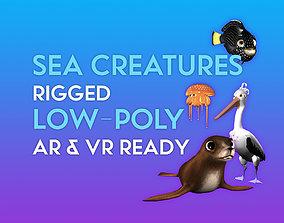 rigged 3D Cartoon Sea Creature Pack