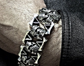 3D print model Marine bracelet crown lock