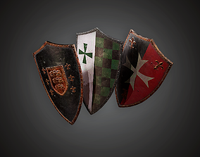 3D model Shield - MVL - PBR Game Ready