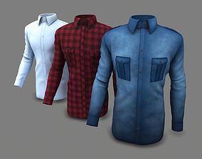 Men Shirts in 3 Colors 3D model