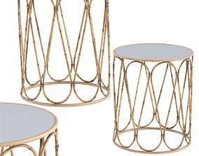 Side Table Bamboo Loop 3D