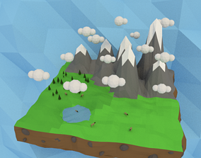 3D model Low-Poly Mountains