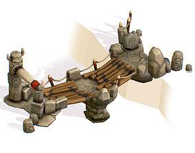 Handpaint Cartoon Wooden Structure Suspension 3D asset