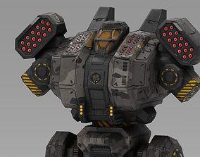 3D asset Spartan BattleMech