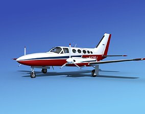 3D model Cessna 414A Chancellor V05