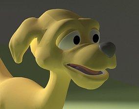 3D asset Cartoon Dog