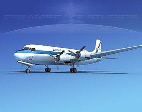 3D model Douglas DC-6 United Air Lines