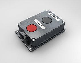 Push button station 3D model