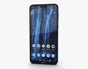 3D model Nokia X6 Blue
