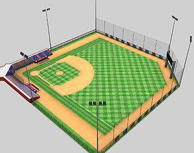 Baseball stadium arena 3D model