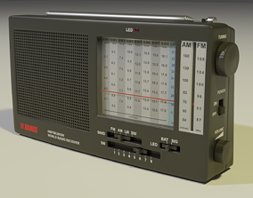 3D model Shortwave Radio Receiver