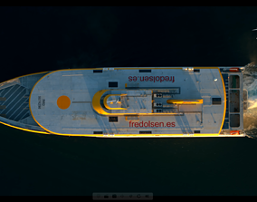 3D asset This is a fred olsen express boat model