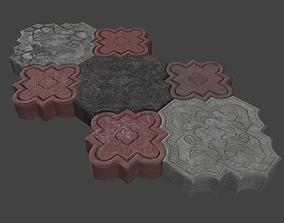 Paving stone 3D