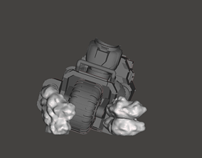 Exhaust Smoke and Muzzle Flash - 3D printable model 2