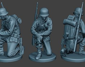3D print model German soldier ww2 Praying G6