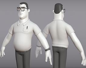 Male cartoon character Ben 3D model