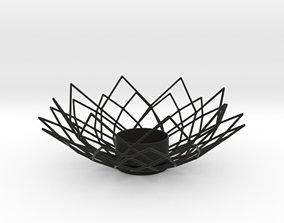 3D printable model Wire Lotus Tealight Holder