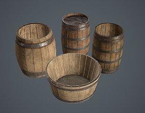 3D asset Barrels Medieval pack