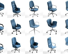 15 office chair pack collection 3D model