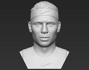 Rafael Nadal bust 3D printing ready stl obj formats