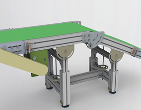 3D model Height and Angle adjustable conveyor