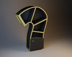 Stylish Cupboard with a lamp 3D