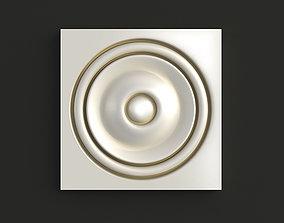 3D Round carved rosette