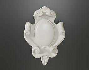 3D print model Baroque cartouches onlay element 006