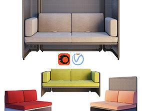 3D Coalesse - Lagunitas Lounge System Two Seater Sofa