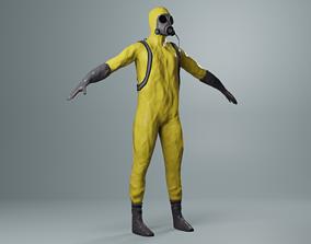 3D model VR / AR ready PBR Hazmat suit