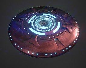 3D asset UFO spaceship