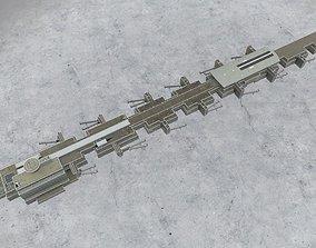 3D asset low-poly EDDF Terminal 1A2 2