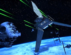 3D model Space Shuttle Tydirium Star Wars