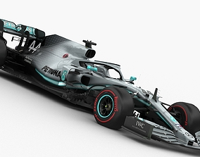 F1 Mercedes W10 2019 3D