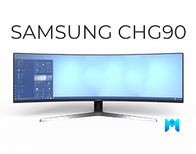 3D asset Samsung 49 Inch CHG90 QLED Gaming