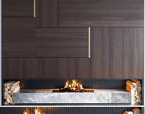 3D fire Fireplace 03