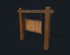3D model Medieval Signboard