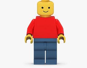 3D asset Classic Lego Man Figurine