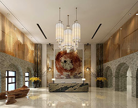 Hotel reception hall design complete 02 3D