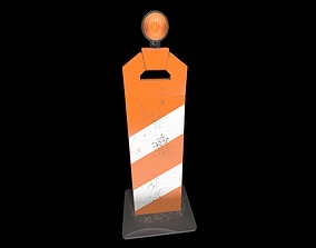 Traffic cone 3D model low-poly PBR