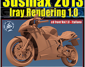 3ds max 2013 Iray Rendering Italiano cd front vol 1