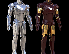 3D model Iron Man Mark 2 and 3 Pack