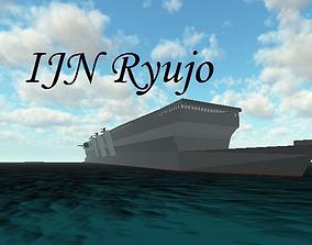 IJN Ryujo light carrier 3D asset