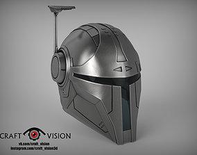 3D print model star Mandalorian Helmet