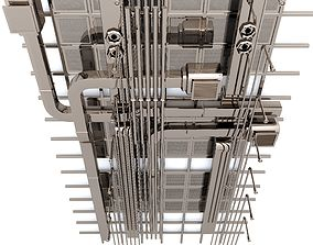 3D style Pipes industrial ceiling